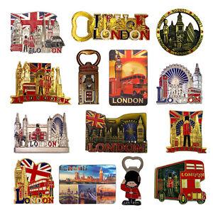 12 London souvenirs fridge magnets British Union Jack England metal Photo magnet