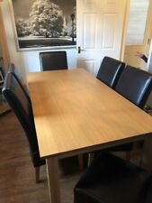 G Plan Dining Table And Six High Back Leather Chairs