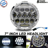 "7"" LED Chrome Headlight For Kawasaki Vulcan VN 500 750 800 900 1500 1600 1700"