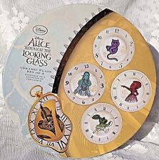 Disney Store Alice Through the Looking Glass Ceramic Plate Set of 4 New Nwb Mint