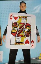 KING OF HEARTS ADULT COSTUME Mens Foam Playing Card Unique Romantic One Size NEW
