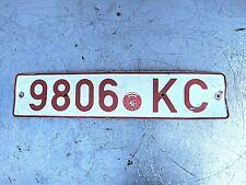 Vintage Belarus License Plate Registration Mark 94'