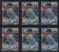 2018 Topps Holiday Rafael Devers RC 6 Card Lot #67 #HMW67 Rookie Red Sox