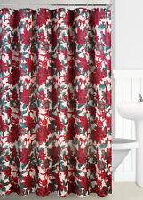 "1PC Christmas Printed Decor Bathroom Shower Curtain 70""X72""  X-MAS #1 Poinsettia"