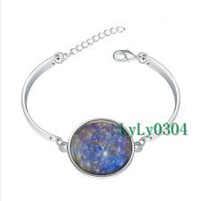 Planet Mercury glass cabochon Tibet silver bangle bracelets wholesale