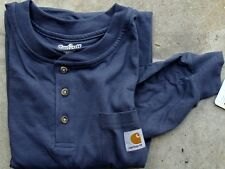 CARHARTT K128 L/S Workwear Henley (2XL Bluestone)