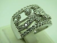 Turkish Handmade Jewelry 925 Sterling Silver Zircon Stone Ladies' Ring Sz 9
