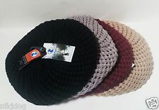 Womens Knit Beret Winter Beanie Hat One Size