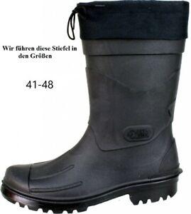 Hochwertiger Herren Gummistiefel PVC Wattstiefel Dry Walk schwarz Nils Gr. 41-48