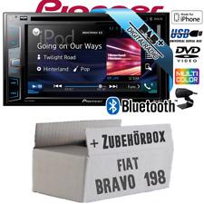 Pioneer Radio für Fiat Bravo198 DAB+ DVD USB Bluetooth Auto-Einbauset Multimedia