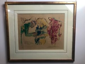 LeRoy Neiman Signed Serigraph Exchanging Pins 1972
