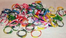 50 ASSORTED silicone RUBBER SAYING BRACELETS bulk lot wristband unisex bracelet