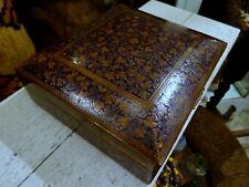 Antique Kashmir Indo-Persian Enamel on Brass Box