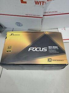 Seasonic FOCUS GX-850, 850W 80+ Gold, Full-Modular, Fan Control *NEW F.SHIP*