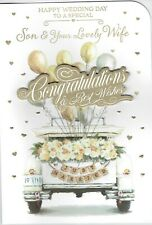 To A Special SON AND YOUR LOVELY WIFE - LARGE WEDDING DAY Card (Daughter-in-Law)