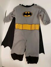 Vintage Rubies Batman Costume Baby Infant Black Gray Yellow With Cape