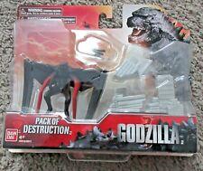 """GODZILLA PACK OF DESTRUCTION MUTO FIGURE SET MOVIE VERSION 3.75"""" RARE BAN DAI"""