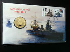 2011 $1 UNC Royal Aust Navy APTA OVER PRINT Stamp & Coin Cover PNC NUMBERED:77