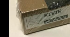 IKEA Kivik Ottoman w/ Storage NEW Tullinge Gray Brown COVER ONLY Grey Footstool