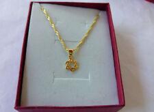 Pendentif+chaine, étoile de David , en plaqué or