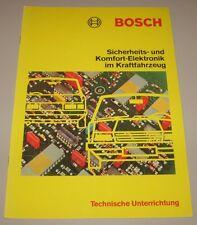Technische Information Bosch Sicherheit + Komfort Elektronik im KFZ Juni 1983!