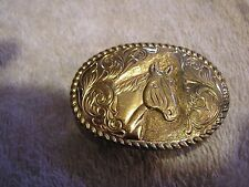 Vintage Crumrine El Arturo Bronze Belt Buckle Horse Head