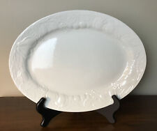 Fruit De Blanc Tabletops Unlimited Embossed Fruit Oval Serving Platter 13.25""
