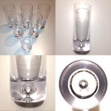 6 verres à orangeade cristal avec bulle