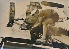 """AVION 1954 -Matelot-Mécanicien Aéronavale Armement Mitrailleuse""""Corsaire""""-PR 721"""