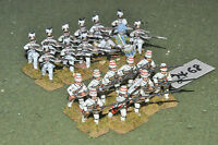 25mm 7YW / french - seven years war infantry 22 figures metal - inf (7468)