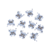 10X UK-2.5B 800V 32A 2.5mm² DIN Rail Screw Mounting Terminal Connector Block ME
