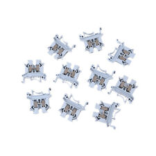 10pcs UK-2.5B 800V 32A 2.5mm² DIN Rail Screw Mounting Terminal Connector Blocks