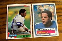 Tony Dorsett 1981 #500 and 1983 #46 - Cowboys