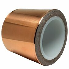 Copper Foil Tape 2inch x 18ft for Guitar & EMI Shielding, Slug Repellent, - - -