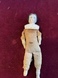"""Tiny 3 1/3"""" Antique China Head Doll"""