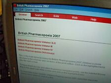 COMPLETE BRITISH PHARMACOPOEIA 2007 ON COMPUTER w/ SOFTWARE CD MONOGRAPHS ETC.