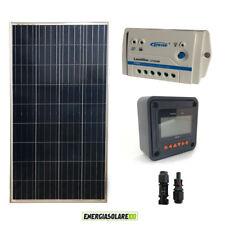 Kit Pannello Solare 150W 12V  Regolatore PWM 10A 12V Serie LS con Display Remoto