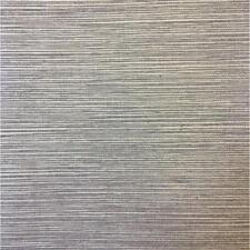Wallpaper Textured Vinyl Faux Metallic Silver Gloss Sisal Grasscloth on Gray