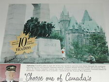1949 Canadian National Railways ad, Chateau Laurier