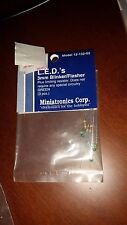 Miniatronics LEDs 3mm Blinker / Flasher  Green 3 pcs 12-132-03 NIP