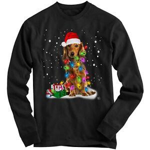1Tee Kids Boys Dog Covered in Christmas Lights Sweatshirt Jumper