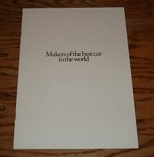 Original 1982 Rolls Royce Makers of Best Car in the World Sales Brochure 82