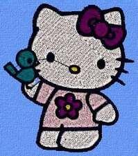 Disegno qualsiasi macchina Ricamo ricamare Hello Kitty 31 Brother Pfaff Bernina