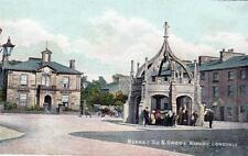 Kirkby Lonsdale Market Square unused old postcard Stationery Co