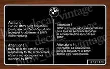 """BMW e30 e31 e32 e34 e36 e38 e39 AUFKLEBER DECAL STICKER BLACK """"ORIGINAL BMW TEIL"""