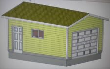 12' X 16' Garage Shop Plans Materials List & Blueprints