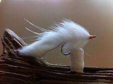 New listing Bonito Bunny Fly White 2 Flies Mustad 34007 #1/0 snook striper albacore