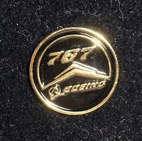 Pin BOEING Round Logo BOEING 767 Pin for Pilots metal GOLD pin tie tack