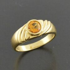 Brand New  18ct yellow gold ring with golden orange natural Citrine