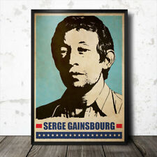 Serge Gainsbourg Pop Art Poster música francesa Francoise Hardy Anna Karina